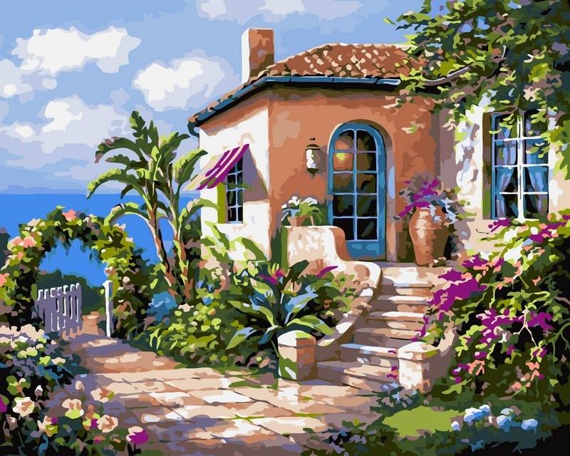 Рисование по номерам 40×50 см. Солнечный полдень у моря Художник Сунг Ким