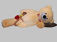 Плюшевый мишка Гигант 2 метра 50 см - бежевый