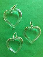 Пластиковые сердца подвесные для декора