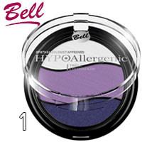 Bell HypoAllergenic - Тени для век 3-цветные Triple EyeShadow Тон 01