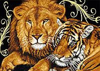 """Схема для вышивки бисером """"Лев и тигрица"""", А3"""