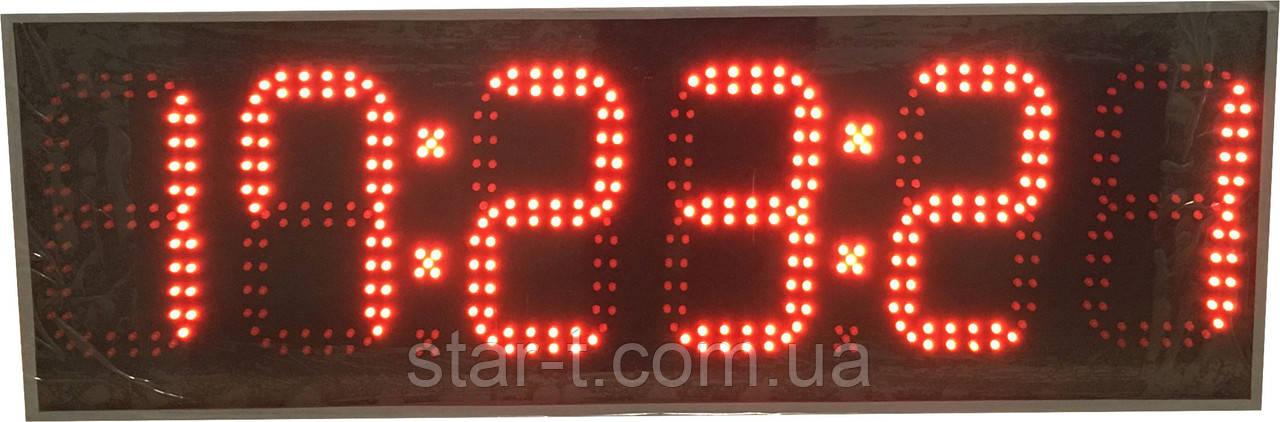 Часы термометр календарь на 6 цифр. Яркость 800мКд