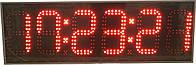 Часы термометр с подачей звонков по расписанию на 6 цифр. Яркость 800мКд