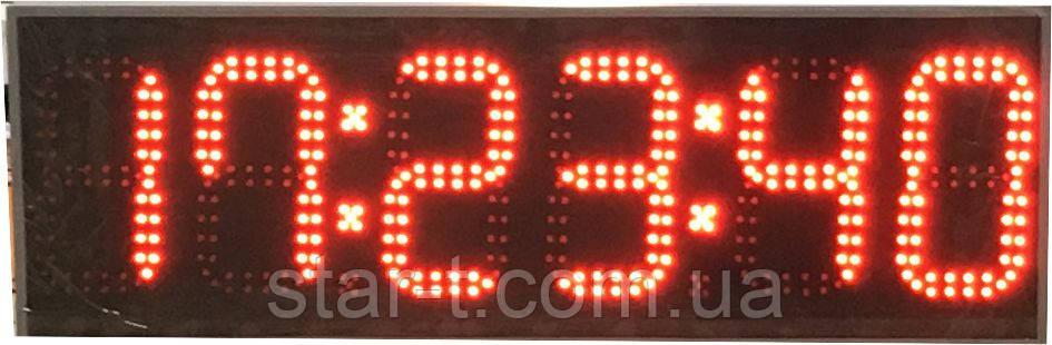 Часы с секундами на 6 цифр. Яркость 800мКд