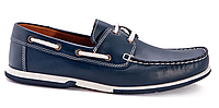 Синие кожаные мокасины Riverland 04