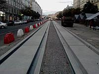 Плита для трамвайных путей