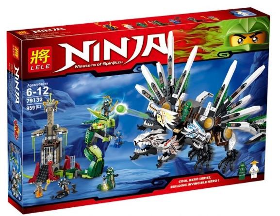 Конструктор Lele серия Ninja / Ниндзя 79132 Битва драконов (аналог Lego Ninjago 9450)
