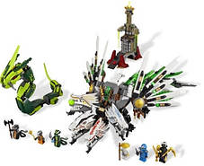 Конструктор Lele серия Ninja / Ниндзя 79132 Битва драконов (аналог Lego Ninjago 9450), фото 3