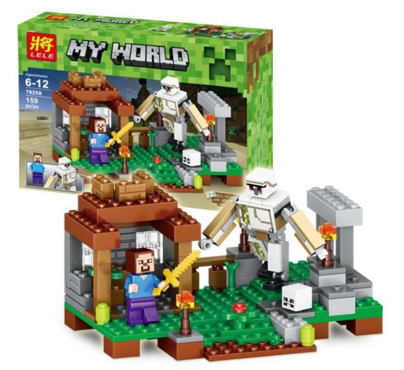 Конструктор Micro World Minecraft / Майнкрафт 79258 (Атака робота)