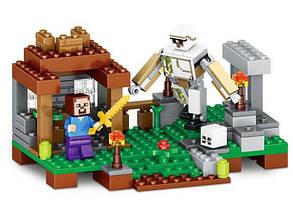Конструктор Micro World Minecraft / Майнкрафт 79258 (Атака робота), фото 2