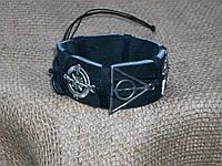 Стильный кожаный мужской браслет МУЛЬТИФАНДОМ по сериалам, ручная работа