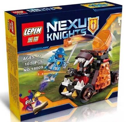 Конструктор Lepin серия Nexu Knights 14009 Безумная катапульта (Аналог Lego Nexo Knights 70311), фото 2