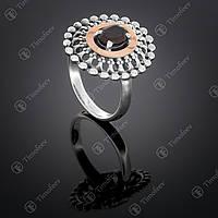 Серебряное кольцо с раухтопазом. Артикул П-274