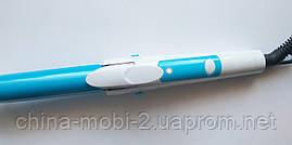 Плойка-утюжок для волос RIZHEN RZ-9188 - 2в1, голубой, фото 3