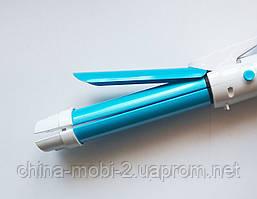 Плойка-утюжок для волос RIZHEN RZ-9188 - 2в1, голубой, фото 2