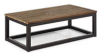 Кофейный столик в стиле лофт из металла и дерева