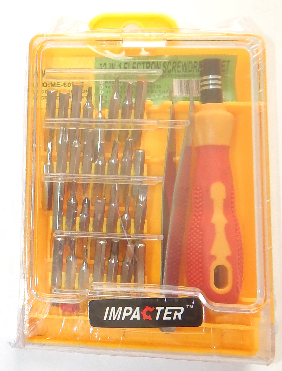 Набір міні-викруток з пінцетом Impacter DK-6032A