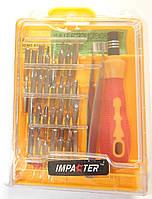 Набор мини-отверток с пинцетом Impacter DK-6032A