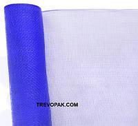Сетка для упаковки цветов простая синяя