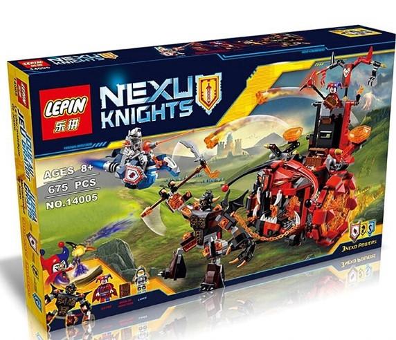 Конструктор Lepin серия Nexu Knights 14005 Джестро - мобиль (Аналог Lego Nexo Knights 70316)