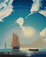Картины по номерам на холсте 40×50 см. Лунный мираж Художник Олег Акульшин
