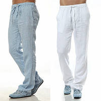 Мужские, льняные штаны пляжные, городские из натурального льна. Производство Украина. Пошив опт и розница