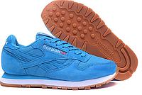 Кроссовки Reebok Classic Suede (light blue) - 02w женские