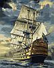 Картины по номерам на холсте 40×50 см. Военный фрегат Художник Сарел Терон
