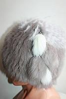 Красивая женская шапка из меха кролика 7306