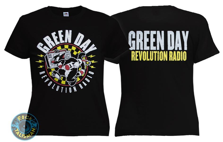 Футболка  женская GREEN DAY Revolution Radio
