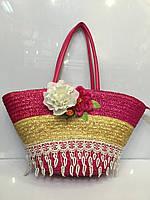 Пляжная сумка 1033 женская летняя соломенная разные цвета