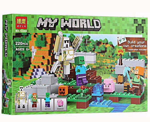 Конструктор Bela 10468 Майнкрафт Железный Голем (аналог Lego Minecraft 21123)