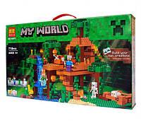 Конструктор Bela серия My World 10471 Домик на дереве в джунглях (аналог Lego Майнкрафт, Minecraft 21125)