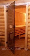 Двери для бани PAL, бронза, 70х190