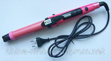 Плойка-утюжок для волос с регулятором Nova NHC-1818SC - 2в1, розовый
