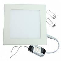 Светодиодный встраиваемый светильник Ledex 12Вт квадрат