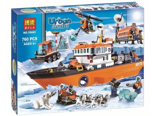 Конструктор Bela 10443  Арктический ледокол Urban Arctic 10443 (аналог Lego City 60062)