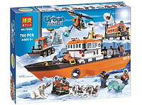 Конструктор Bela серия Urban Arctic 10443 Арктический ледокол (аналог Lego City 60062)