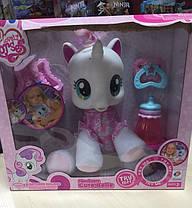 Лошадка Пони 83097 My Little Pony.Рог светится. Бутылочка, соска, ложечка, тарелочка, фото 3