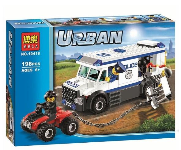 Конструктор Bela 10418 Urban Перевозчик заключённого (аналог Lego City 60043)