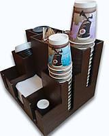 Органайзер ПОДИУМ для стаканчиков, крышек, салфеток, сахара; дерево