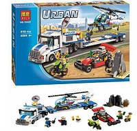 Конструктор Bela серия Urban 10422 Перевозчик вертолёта (аналог Lego City 60049)