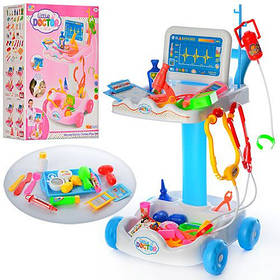 Игровой набор Маленький Доктор с тележкой  606-1-5