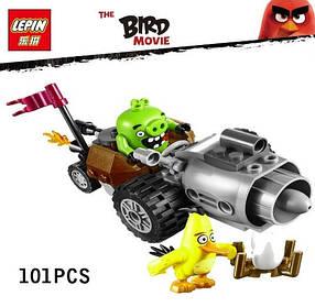 Конструктор Lepin 19001 Энгри Берц. Побег из машины свинок (Аналог Lego Angry Birds 75821)