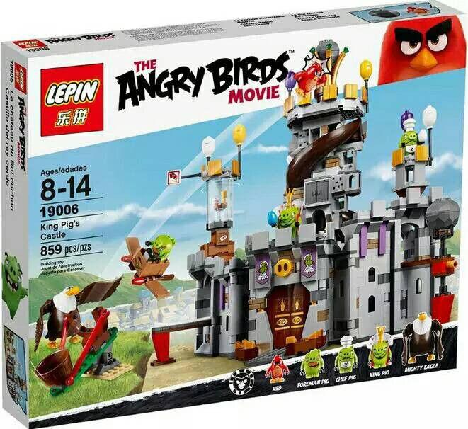 Конструктор Lepin 19006 Энгри Берц Замок Короля свинок (аналог Lego Angry Birds 75826)