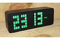 Эксклюзивные деревянные настольные часы Брусок большой, фото 1