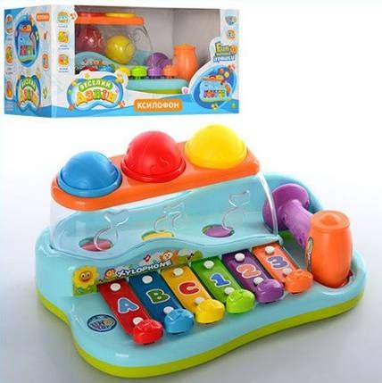 Развивающая музыкальная игрушка ксилофон Limo Toy 9199, фото 2