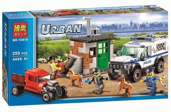Конструктор Bela 10419 Urban Полицейский фургон с собаками (аналог Lego City 60048)