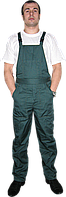 Полукомбинезон рабочий зеленый ткань саржа