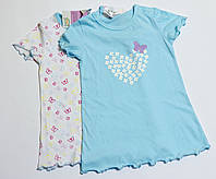 Детская легкая ночная рубашка для девочки р.74/80